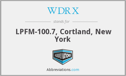 What does WDRX stand for?