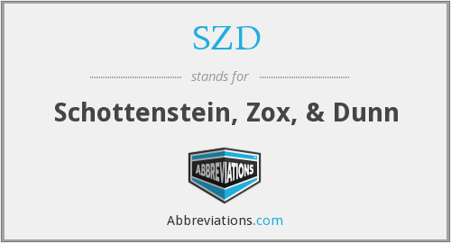 What does SZD stand for?
