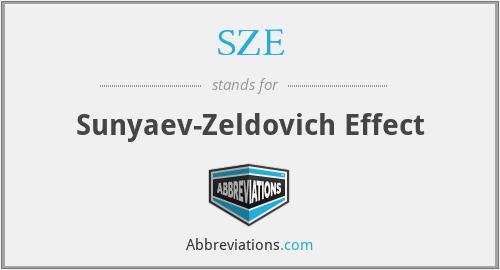 SZE - Sunyaev-Zeldovich Effect