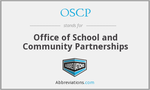 OSCP - Office of School and Community Partnerships