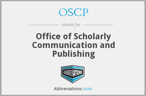 OSCP - Office of Scholarly Communication and Publishing