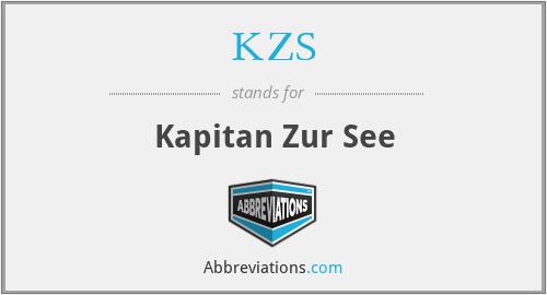 KZS - Kapitan Zur See