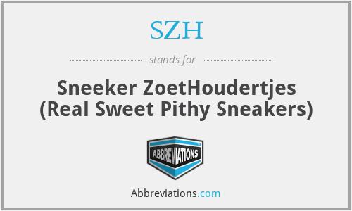 SZH - Sneeker ZoetHoudertjes (Real Sweet Pithy Sneakers)