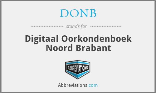 DONB - Digitaal Oorkondenboek Noord Brabant