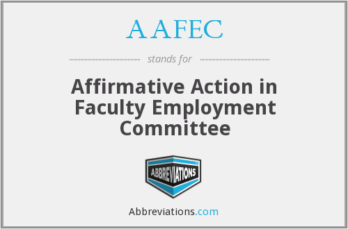 What does AAFEC stand for?