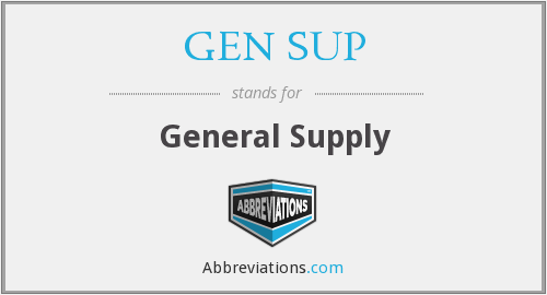 What does GEN SUP stand for?