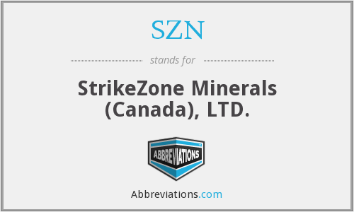 SZN - StrikeZone Minerals (Canada), LTD.