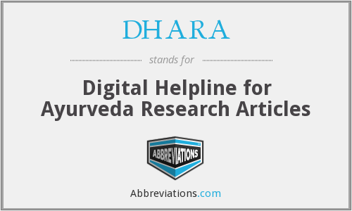 What does DHARA stand for?