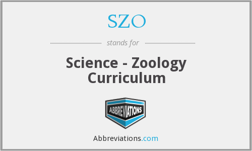 SZO - Science - Zoology Curriculum