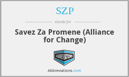 SZP - Savez Za Promene (Alliance for Change)