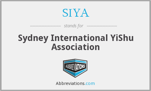 SIYA - Sydney International YiShu Association