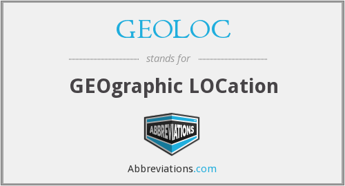 GEOLOC - GEOgraphic LOCation