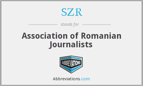 SZR - Association of Romanian Journalists