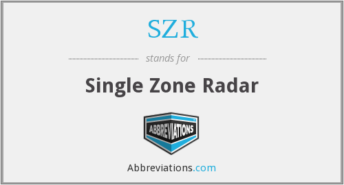 SZR - Single Zone Radar