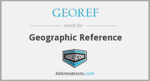 What does GEOREF stand for?