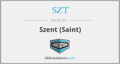 SZT - Szent (Saint)