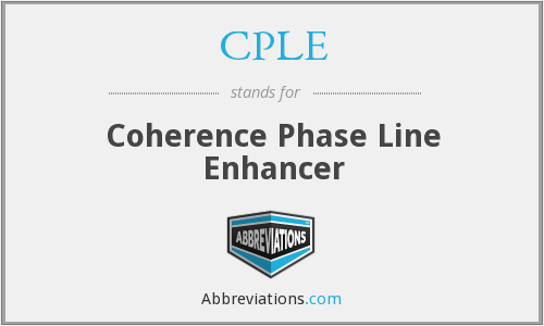 CPLE - Coherence Phase Line Enhancer