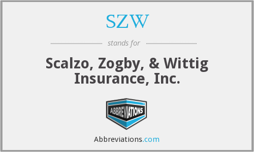 SZW - Scalzo, Zogby, & Wittig Insurance, Inc.