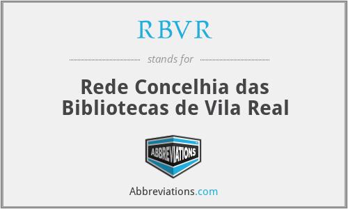RBVR - Rede Concelhia das Bibliotecas de Vila Real