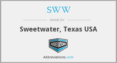 SWW - Sweetwater, Texas USA