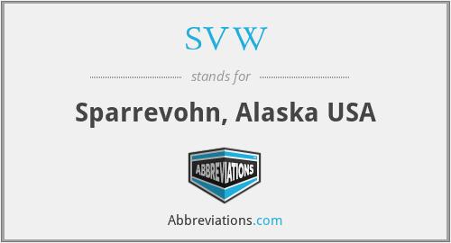 SVW - Sparrevohn, Alaska USA