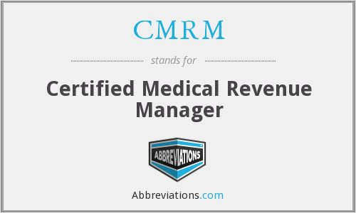 What does CMRM stand for?