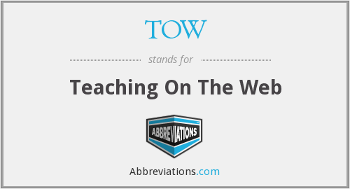 TOW - Teaching On The Web