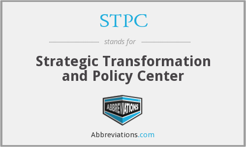 STPC - Strategic Transformation and Policy Center