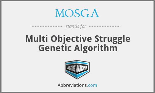 MOSGA - Multi Objective Struggle Genetic Algorithm
