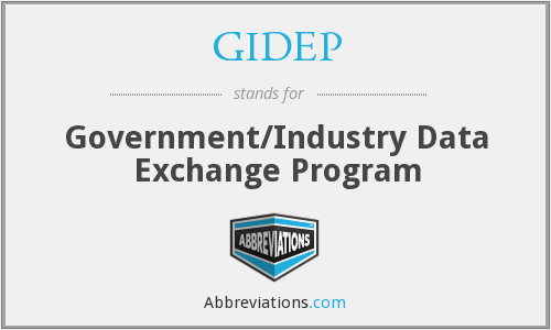 What does GIDEP stand for?