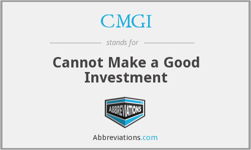 CMGI - Cannot Make a Good Investment