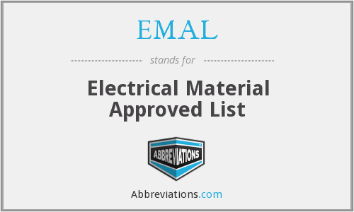 EMAL - Electrical Material Approved List