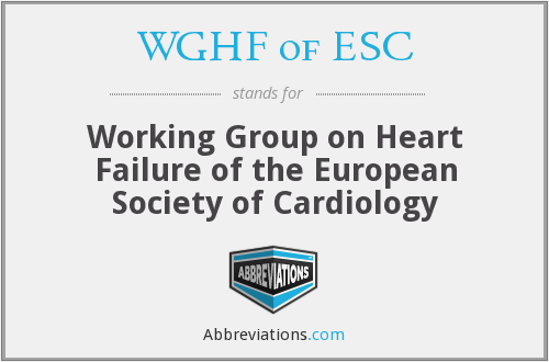 What does WGHF OF ESC stand for?