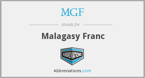 MGF - Malagasy Franc
