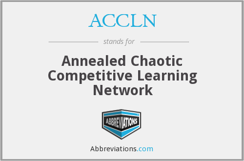 ACCLN - Annealed Chaotic Competitive Learning Network