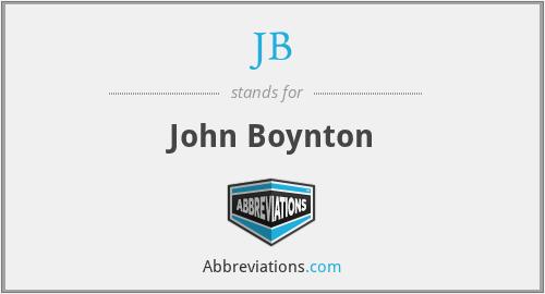 JB - John Boynton