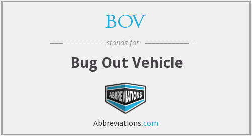BOV - Bug Out Vehicle