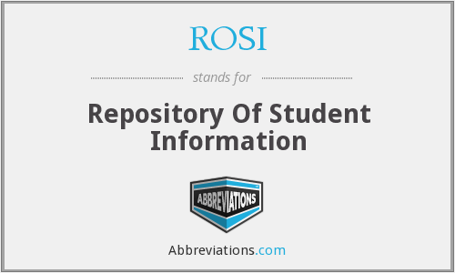 ROSI - Repository Of Student Information