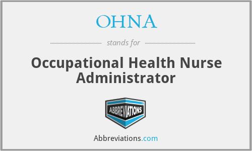OHNA - Occupational Health Nurse Administrator