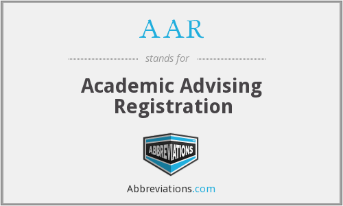 AAR - Academic Advising Registration