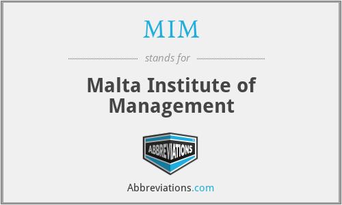MIM - Malta Institute of Management