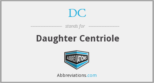 DC - Daughter Centriole