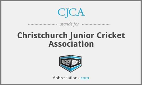 CJCA - Christchurch Junior Cricket Association