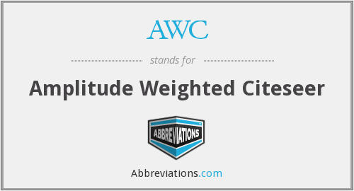 AWC - Amplitude Weighted Citeseer