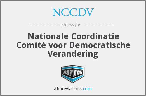 What does NCCDV stand for?