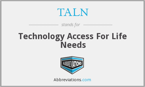 What does TALN stand for?