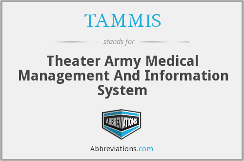 What does TAMMIS stand for?