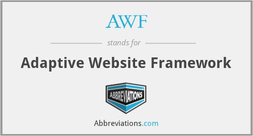 AWF - Adaptive Website Framework