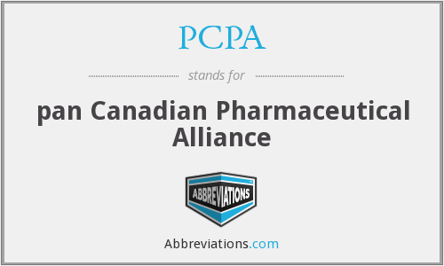 PCPA - pan Canadian Pharmaceutical Alliance