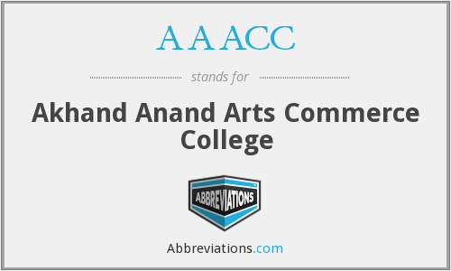 AAACC - Akhand Anand Arts Commerce College